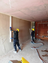 Application of turbosol plaster